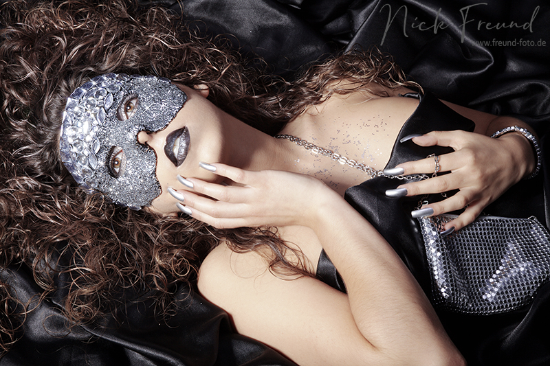 Masken Shooting mit Model Kosmetik